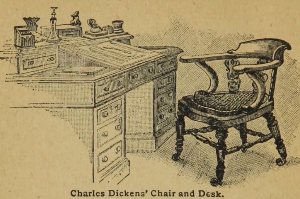 "Charles Dickens writers desk from ""Search lights on health: light on dark corners : a complete sexual science and a guide to purity and physical manhood : advice to maiden, wife, and mother, love, courtship and marriage"" 1894"