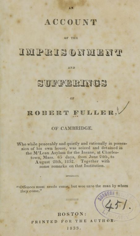 An Account of the Imprisonment and Sufferings of Robert Fuller of Cambridge reviewed by jeffrey hatcher
