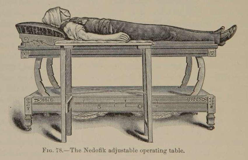 man lying on operating table