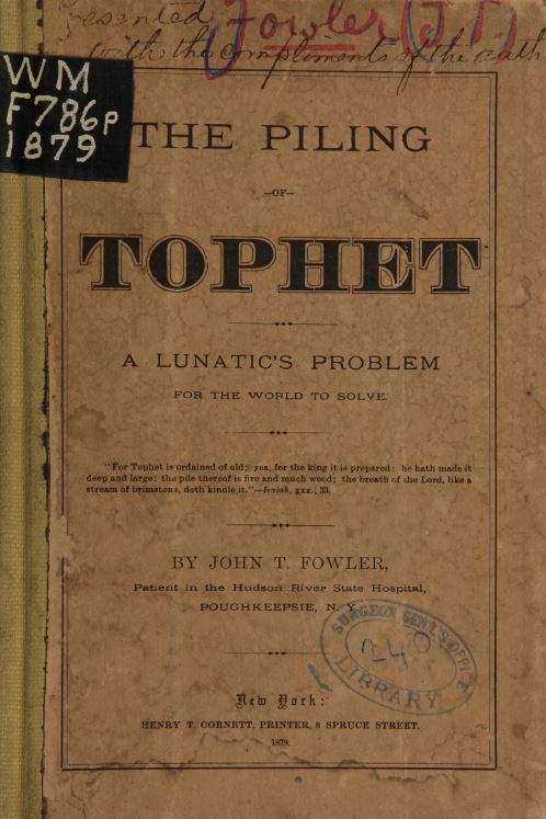 The Piling of Tophet,  John Fowler as reviewed by Jeffrey Hatcher