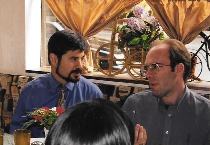 Professor Donald J. Melnick, Columbia University, with Jeffrey Hatcher