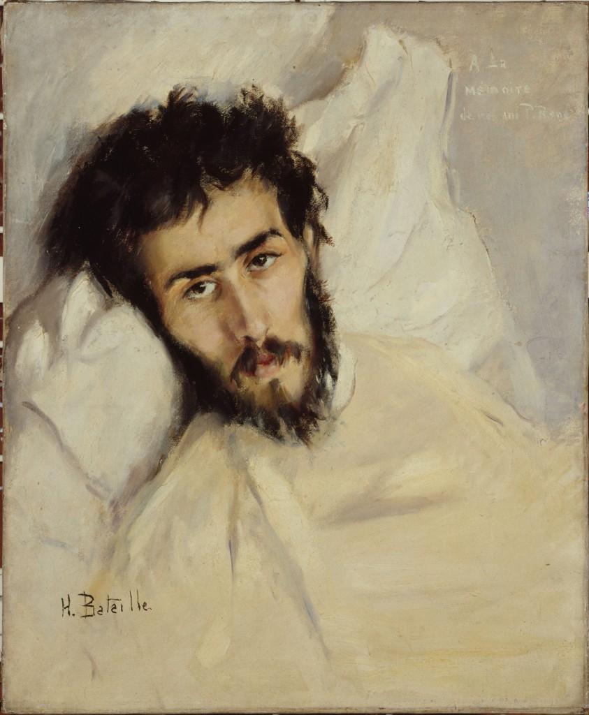 Portrait of a sick man by Henry Bataille Portrait d'homme malade