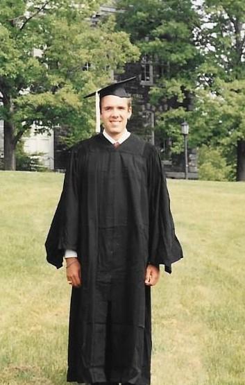 Jeffrey Lee Hatcher at Cornell University graduation in 1990.  Ithaca, New York