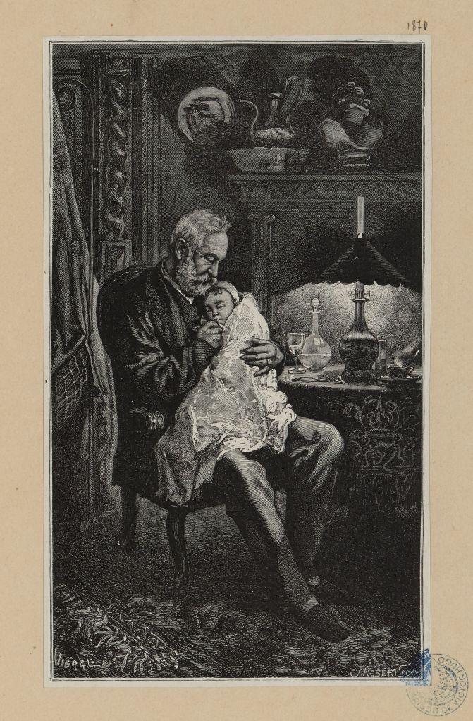 doctor with sick child L'Enfant Terrible malade Robert, Jules , Graveur Vierge, Daniel , Dessinateur Claye, J. , Imprimeur Hugues, Eugène , Editeur