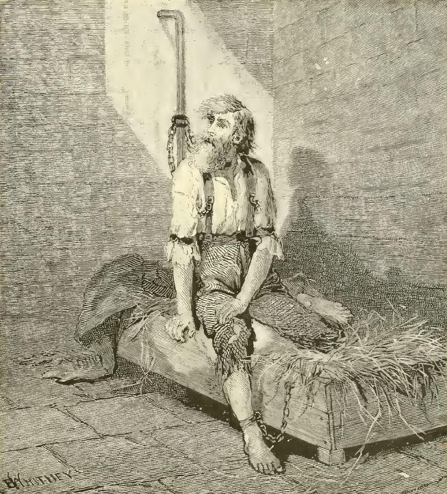 prisoner tied up in an insane asylum