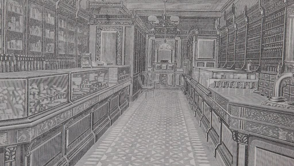 "A nineteenth century pharmacy from ""emotions and disease"""