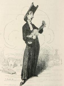 Singer in a chemistry laboratory Némésis médicale illustrée : recueil de satires by  Fabre, François, 1797-1854; Daumier, Honoré, 1808-1879