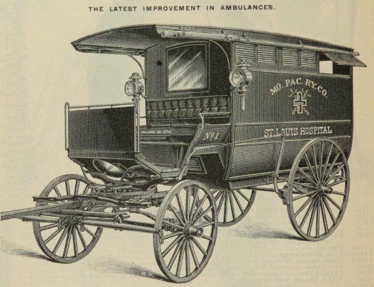 19th century horse drawn ambulance